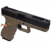 WE Metal Slide Hard Kick G18C GEN4 GBB Pistol (Extend Grip) Tan
