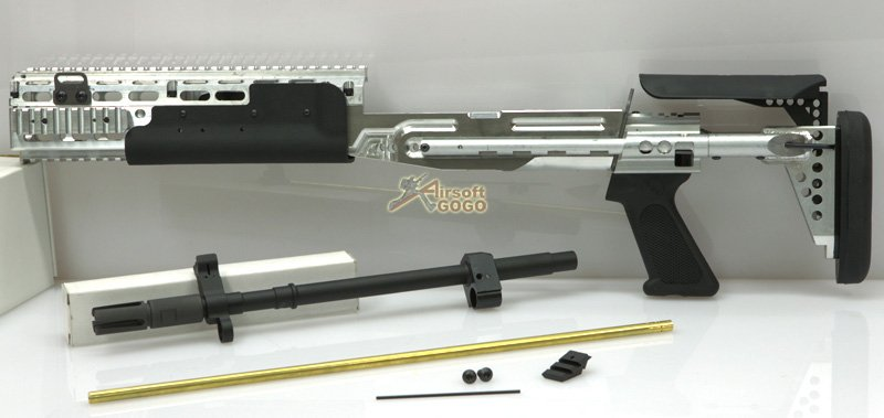 WE M14 EBR Silver Kit for WE Full Metal M14 Gas Blowback ... M14 Ebr Silver