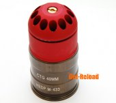 84rd M433 40mm Grenade Gas Cartridge Shell Red