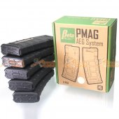 Beta Project PTS MAGPUL ABS PMAG 75rd for M4/M16 AEG (Black, 5pcs Box Set)