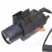 QD M6 Flash Light w/ Red Laser for GBB Pistol