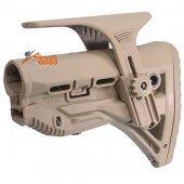 Stock w/ Adjustable Cheek Rest for M4 / M16 AEG ( Dark Earth)