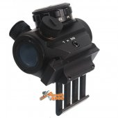 AGG One O Clock Side Red Dot Sight (45 degree offset attachment) for Airsoft AEG GBBR 20mm Rail BK