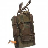 Emerson Nylon Double Bay Magazine Pouch -  Multicam