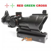 ACOG Type 1x30 Red / Green Cross Sight Scope w/QD 11 & 20mm Mount