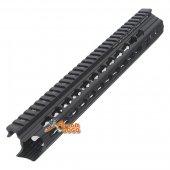 APS 12.5 inch Keymod RIS Free Float  Rail System Handguard for Airsoft M4 M16 AEG - Black