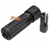 Army Force 5 Inch QDC Suppressor Black 14mm CCW w/ Flash Head