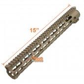 M4 Limited Ver 15 inch Extreme Light MI Style Key Mod Rail for Marui Std ICS Airsoft AEG - Dark Earth