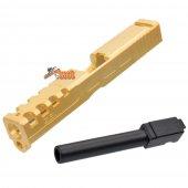 BELL Custom Slide S Type for Marui G17 GBB (Gold & Black Barrel)