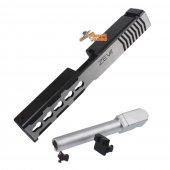 BELL Custom Slide ZEV Type for Marui G17 GBB (2 Tone & Silver Barrel) Type 1