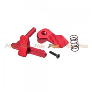 APS Ambidextrous M4/M16 Magazine Release/Catch for AEG (Red)