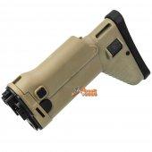 D-Boys SCAR-H Side Folding Stock for D-BOYS / CyberGun Airsoft AEG (Tan)