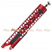 ADW 13.2 inch CNC Alum Rail Kit Set w/ Rail (Red)