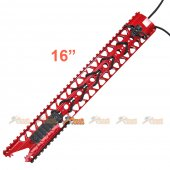 ADW 16 inch CNC Alum Rail Kit Set w/ Rail (Red)