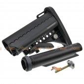 E&C M4/M16 AEG Fiber MOD Crane Stock with Extension Tube (Black)