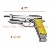 1:2.05 Beretta 93R Die-Cast Metal Gun Model