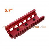 Tokyo Arms 5.7 Inch Aluminum CNC RIS Lower Handguard for A&K M249 AEG (Red)