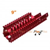 Tokyo Arms Tactical CNC Metal Rail Handguard for KWA Kriss Vector GBB (9inch, Red)