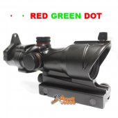 ACOG Type 1x30 Red / Green Dot Sight Scope w/QD 11 & 20mm Mount