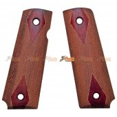 Wood Grip Cover for Maui WE 1911 , MEU Airsoft GBB