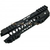 MOTS II 8 Inch Keymod Phantom Handguard for Marui M4 / M16 & WA M4A1 Series Airsoft GBBR (Black)