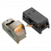 GB 1x25 Mini Reflex Sights 1 MOA Adjustments 3 MOA Dot Reticle Red Dot Sight With 1913 Mount/QD Mount (DE, NO Logo)