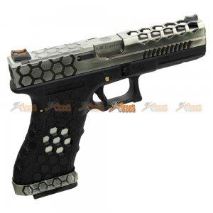 Armorer Works Hex Cut Signature G17 GBB Pistol (2-Tone)