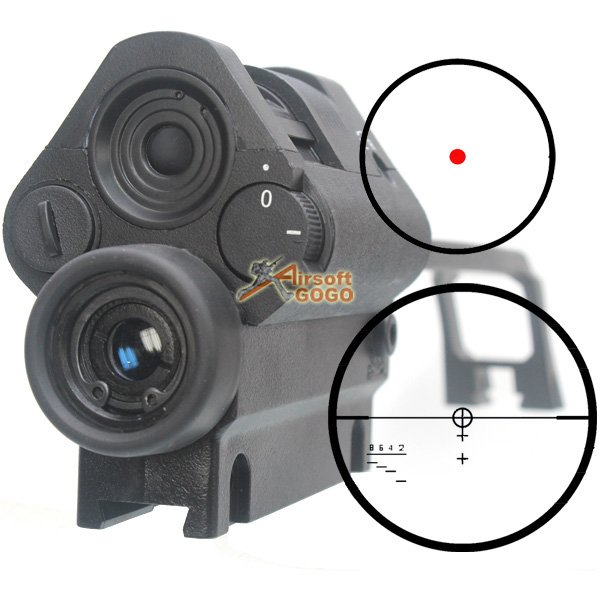 G36v Carry Handle Integrated 3 5x Scope Amp Red Light Dot