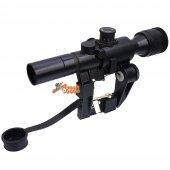 Russian POSP 4x26 AK SVD Red Illuminated Sniper Scope