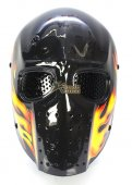 Army of Two Full Face Mask - Black Flame