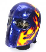 Army of Two Full Face Mask - Fire Flame (Blue)