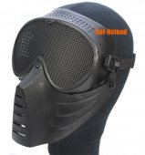 SRC Airsoft Full Face Mask (Black)