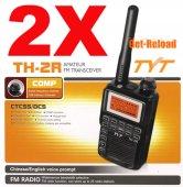 2pcs X TYT TH-2R UHF 400-480MHz Mini Handheld Two-Way Radio