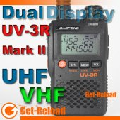 BAOFENG UV-3R Mark II Dual FZ & Display +PTT earpiece -BK