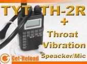 TYT TH-2R 400-480MHz Radio Walkie Talkie + Throat-Vibration Mic