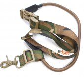 Tactical Single-Point Sling Bungee Snap Hook Rifle - MC