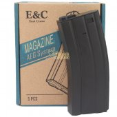 E&C Box of 5 pieces of 160rds M4/M16 Magazine for Airsoft AEG