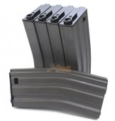 MAG 190rd Real Finish METAL Magazine for M4/M16 AEG (5pcs)