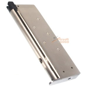 WE 15rd Magazine for M1911 Socom , WE GBB - Silver