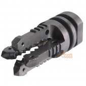APPLE AIRSOFT Steel 4 Arrow Style Flash Hider 14mm CCW