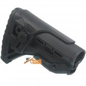 Stock w/ Adjustable Cheek Rest for M4 / M16 AEG (Black)