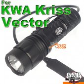G&P T1 CREE LED Flashlight w/ Pressure Switch for KRISS VECTOR