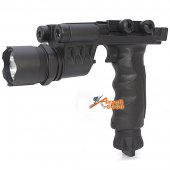 Weapon Light Style Tactical Vertical Foregrip Flashlight with Red Laser & LED Navigator light