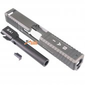CNC Slide Set For Marui GBB Pistol (Grey)
