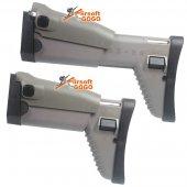 DBOYS SCAR Side Folding Retractable Stock for D-BOYS( SCAR Gen III) & CyberGun MK16 MK17 AEG - TAN