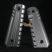 Army Force Aluminium Pistol Grip Cover for WE 1911 MEU (Titanium) V2