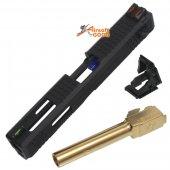 Archives WEI-E Custom Slide S Type for WE G18C GBB (Gold Barrel)