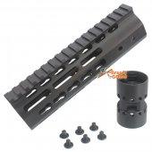 CNC Aluminum Key Mod 7 inch Rail system for M4 AEG