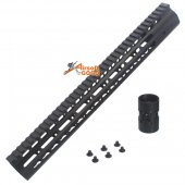 CNC Aluminun Key Mod 15 inch Rail system for M4 AEG