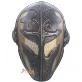 Temple Knight Protective Helmet Mask for Airsoft Paintball - Golden Wire